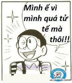 """Hình nền hài hước nobita """"ế vì quá tử tế"""""""