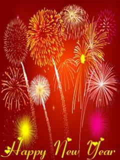 Hình nền năm mới pháo hoa rực rỡ