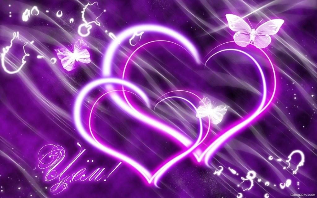 Hình nền 2 trái tim lồng
