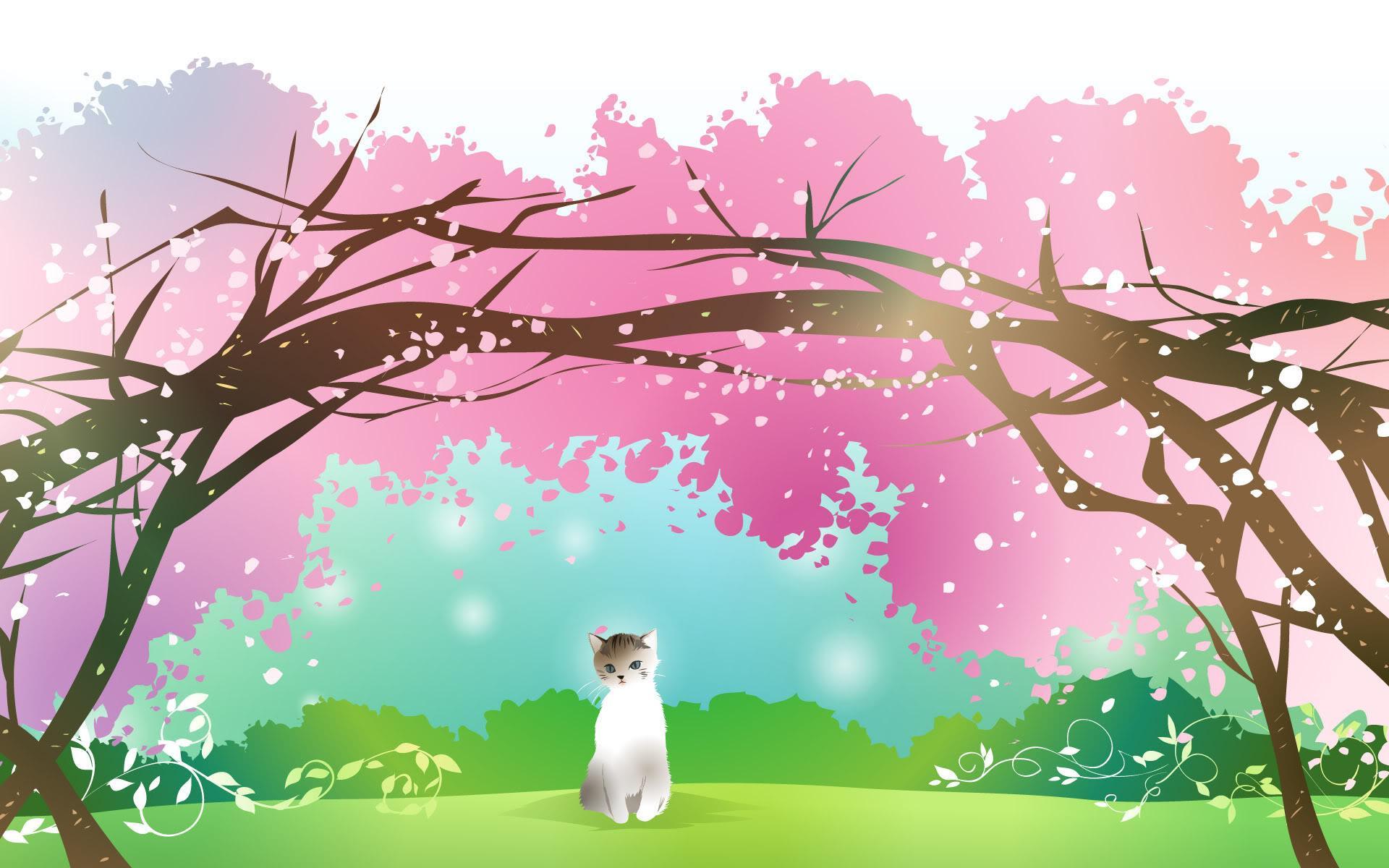 Hình nền mùa xuân tràn đầy sức sống