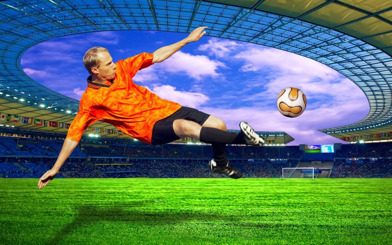 Hình nền thể thao lăn cùng trái bóng