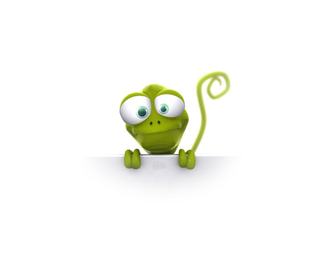 Hình nền 3D – Kìa chú là chú ếch xanh