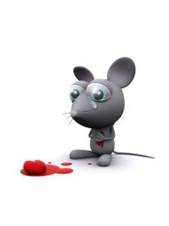 Hình nền hoạt hình – chú chuột thất tình