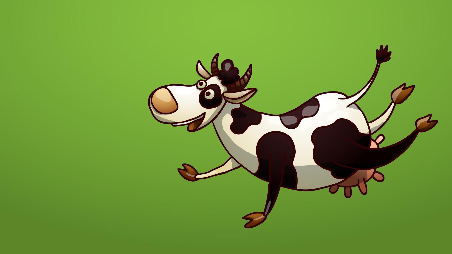 Hình nền hoạt hình – Con bò cười vô cùng ngộ nghĩnh