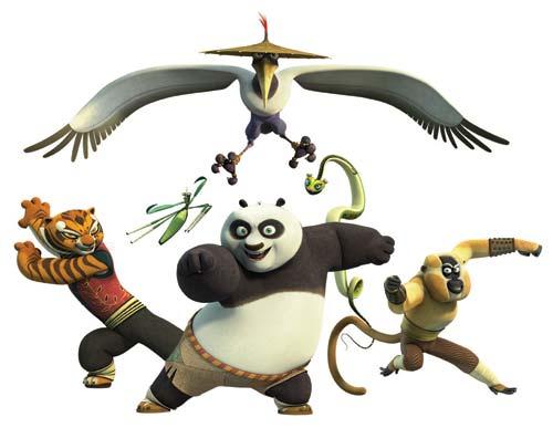 Hình nền hoạt hình - Kungfu Panda cực dễ thương