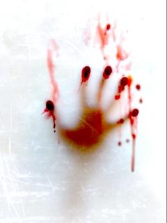 Hình nền kinh dị - Bàn tay đẫm máu