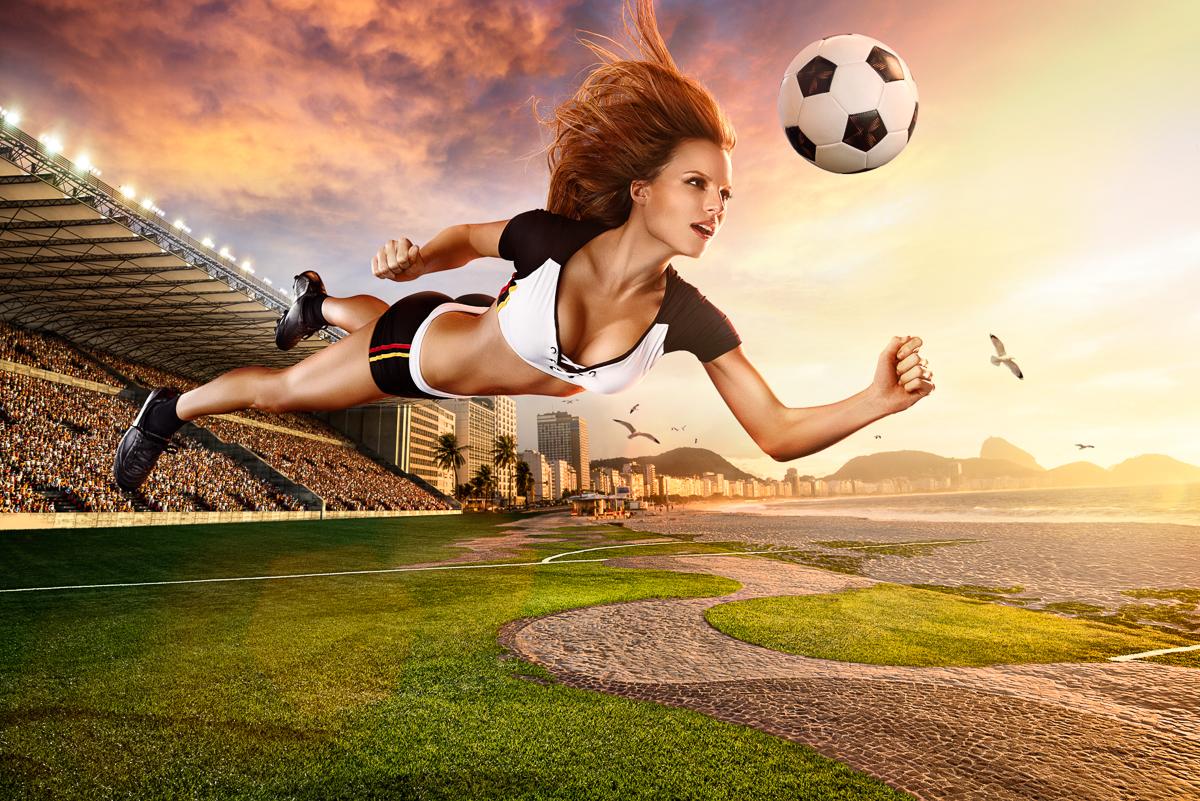 Hình nền thể thao - Bay cùng trái bóng