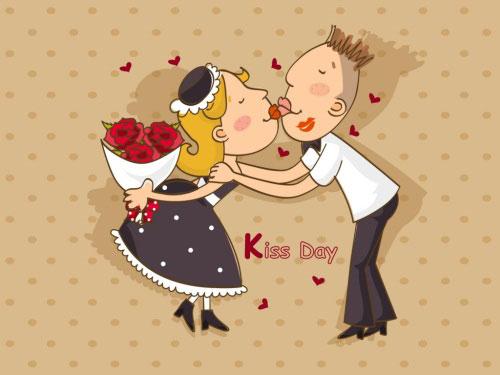 Hình nền tình yêu - Kiss day cực lãng mạn