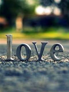 Tạo hình nền cho điện thoại - Chữ Love 3D cực đẹp