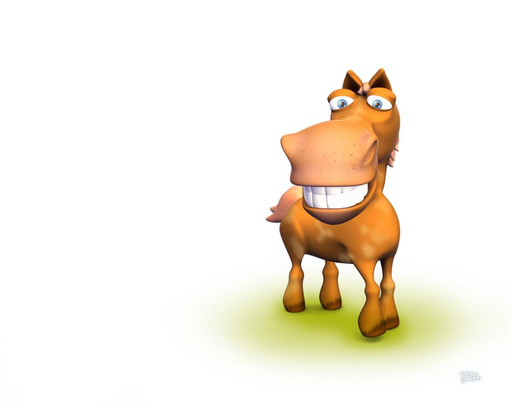Hình nền 3D - Chú bò dễ thương nhất