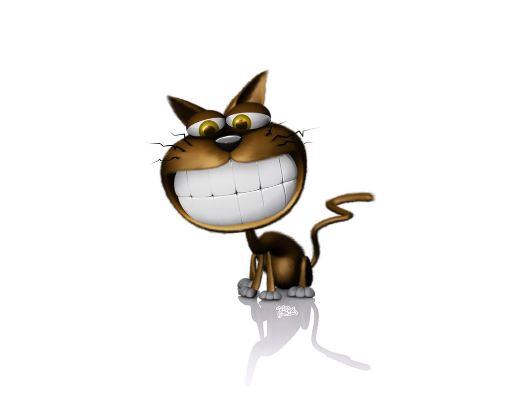 Hình nền 3D - Chú mèo ngộ nghĩnh nhất