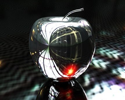 Hình nền 3D - quả táo pha lê cực đẹp