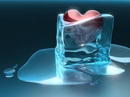 Hình nền 3D - Trái tim bị đóng băng