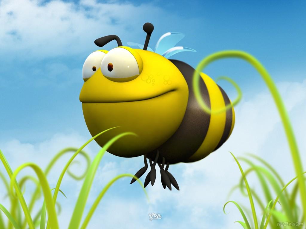 Hình nền hoạt hình - Chị ong vàng cực đẹp