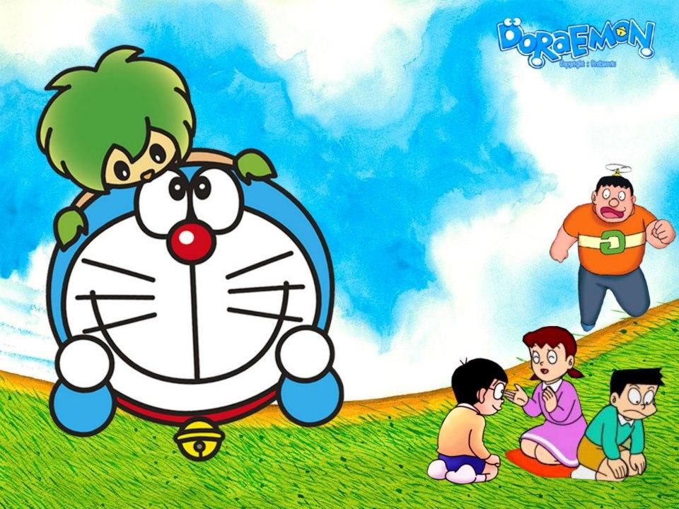 Hình nền hoạt hình Doremon dễ thương nhất cho dế yêu