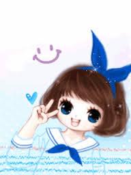 Hình nền hoạt hình Girl cực kute