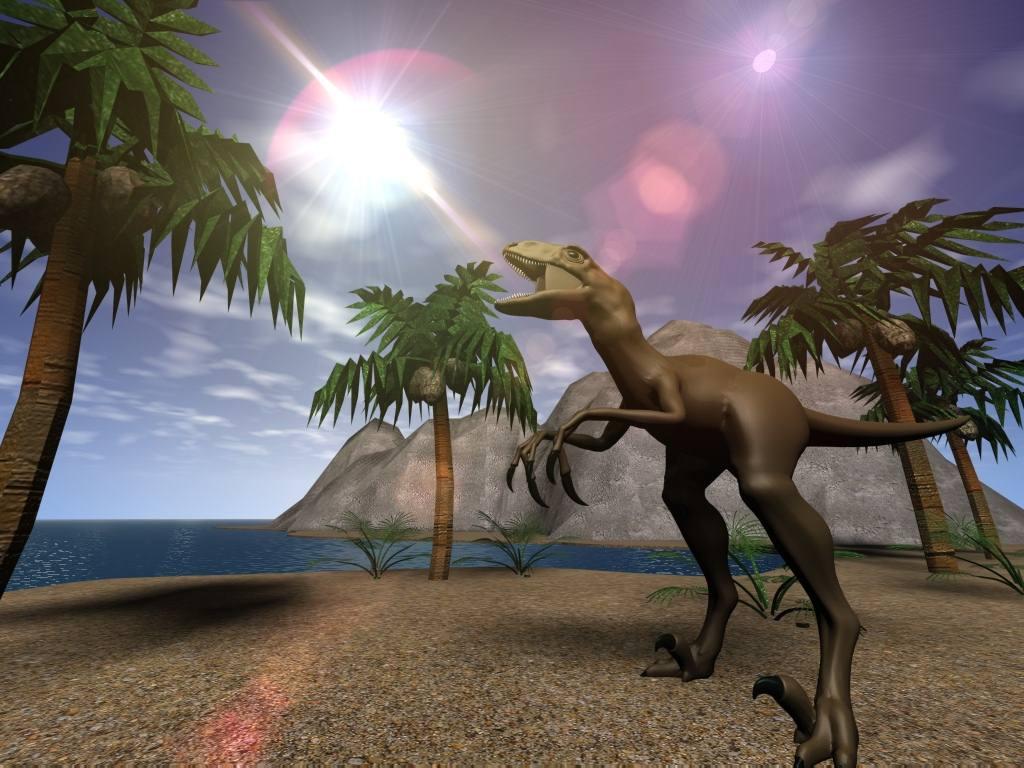 Hình nền hoạt hình khủng long bạo chúa