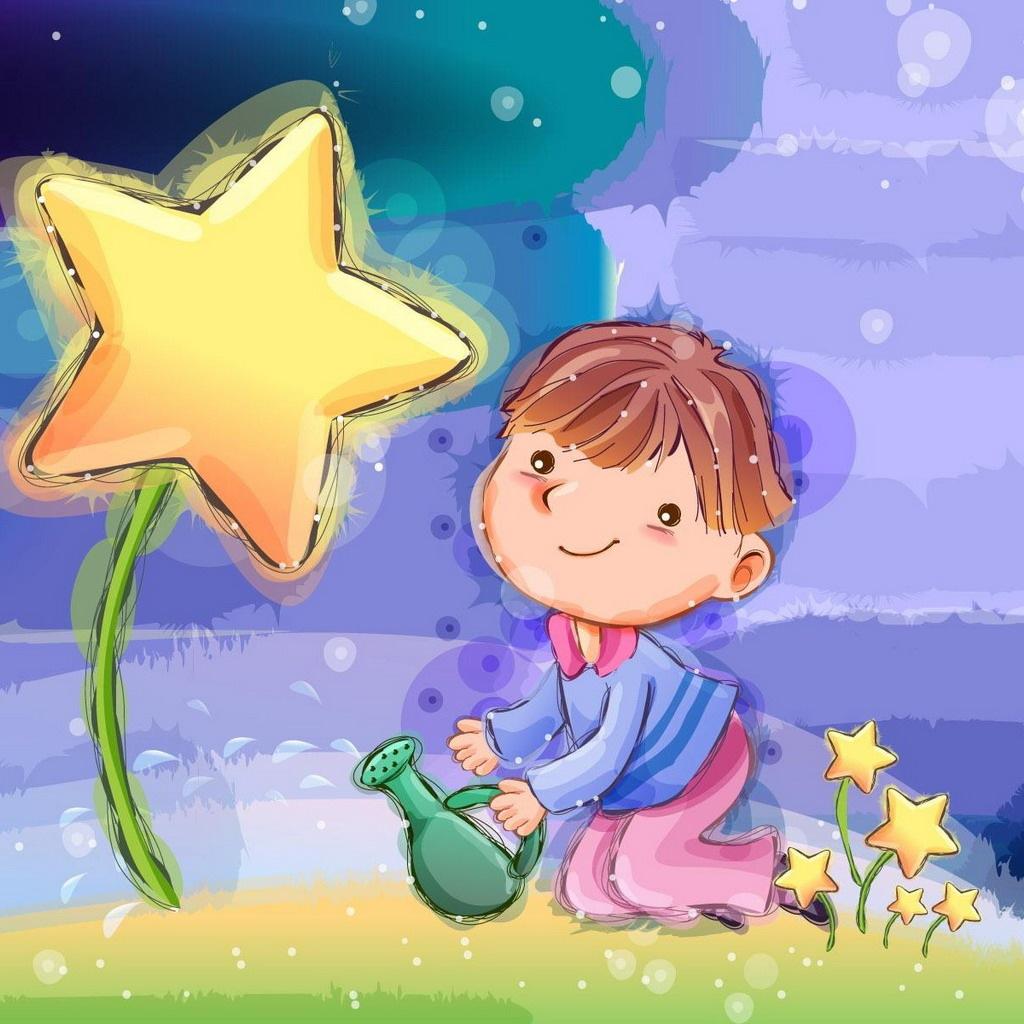 Hình nền hoạt hình - Cây ngôi sao hy vọng