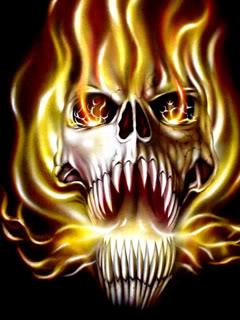Hình nền kinh dị - Đầu nâu bốc lửa