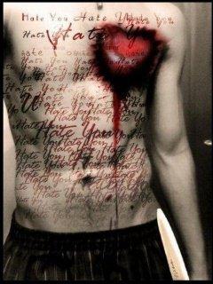 Hình nền kinh dị - Trái tim bị rỉ máu