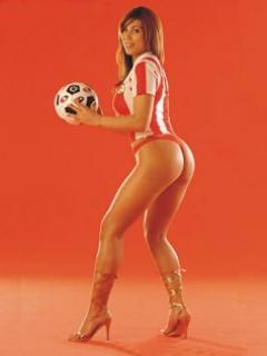 Hình nền thể thao – hot girl cực bốc lửa bên trái bóng