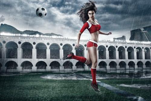 Hình nền thể thao – mỹ nhân đốt lửa cho world cup thêm sôi động