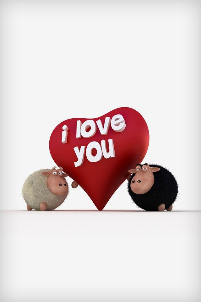 Hình nền tình yêu I Love you chiu chiu