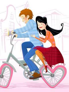 Hình nền tình yêu - Chuyện tình xe đạp cực lãng mạn