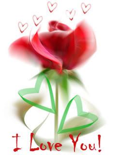 Hình nền tình yêu - Hoa hồng I Love You cực đẹp