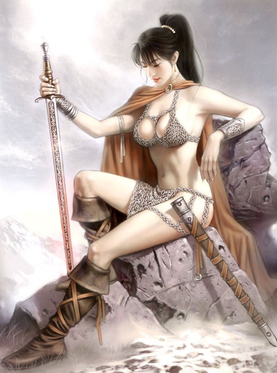 Hình nền girl xinh gợi cảm với kiếm