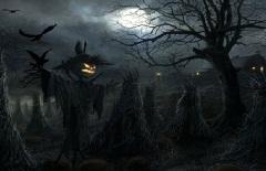 Hình nền halloween – Cánh đồng ma rùng rợn nhất