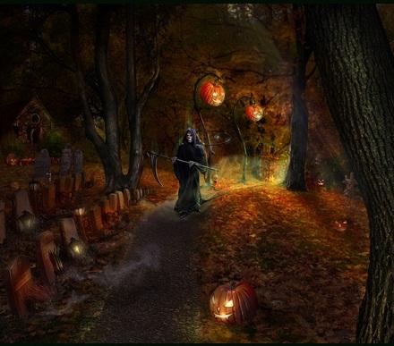 Hình nền halloween - Khu mộ tử thần