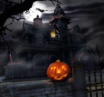 Hình nền halloween - Lâu đài ma