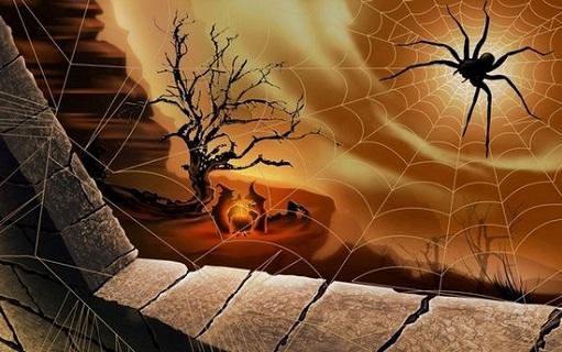Hình nền halloween - Mạng nhện cực đẹp