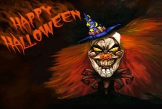 Hình nền halloween - Quỷ mặt hề đáng sợ