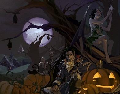 Hình nền halloween - Thế giới ma quỷ