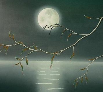 Hình nền trung thu - Ánh trăng bàng bạc