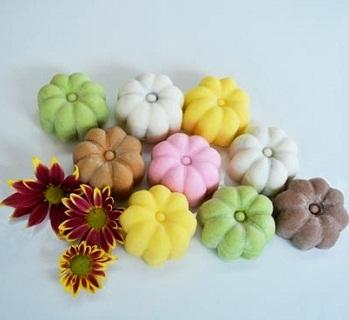 Hình nền trung thu - Bánh dẻo đa sắc màu