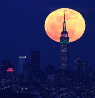 Hình nền trung thu - Đêm trăng thành phố