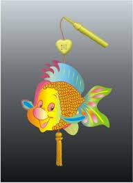 Hình nền trung thu – Đèn cá chép cực hài