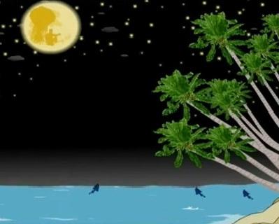 Hình nền trung thu - Trăng rằm ngoài biển tuyệt đẹp