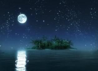Hình nền trung thu - Trăng sáng trên biển