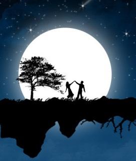 Hình trung thu khiêu vũ dưới trăng