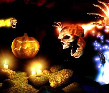 Hình nền halloween - Đầu lâu hung tợn