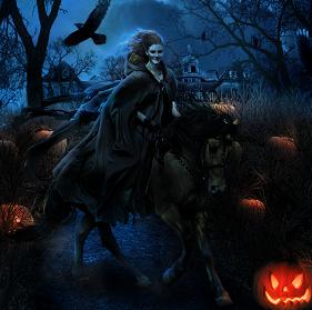 Hình nền halloween – Nữ quỷ tái hiện