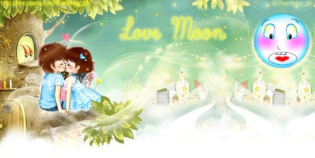 Hình nền trung thu - Love moon đẹp tuyệt vời