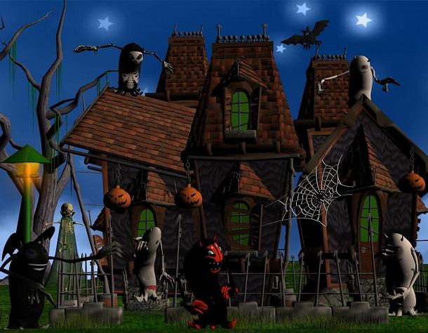 Hình nền halloween – Những quái thú kì lạ