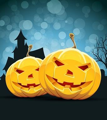 Hình nền halloween vui vẻ cùng bí ngô