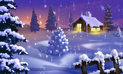 Hình nền noel – Đêm tuyết lung linh