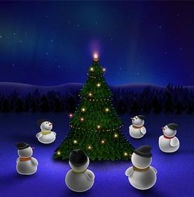 Hình nền noel - Giáng sinh quây quần